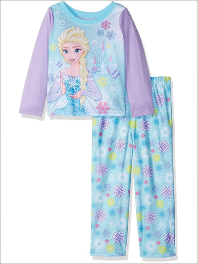 Disney Girls Toddler Frozen 2-Piece Pajama Set Elsa Purple - 4T