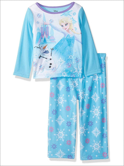 Disney Girls Toddler Frozen Elsa 2-Piece Fleece Pajama Set ICY Olaf