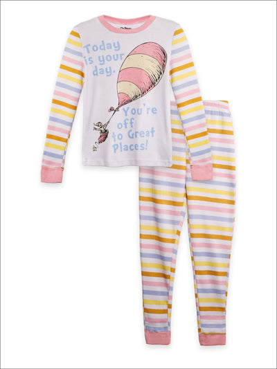 Dr Seuss Today is Your Day Girls Cotton Pajama Set