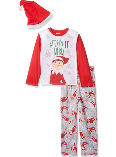 Elf on the Shelf Boys Family Sleep 2-Piece Pajama with Hat - Boys Pajama