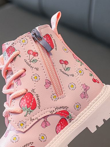 Girls Fruit Little Dr Martin Inspired Boots By Liv and Mia