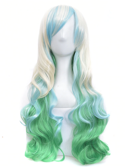 Girls Ombre Mad Scientist Hair Wig