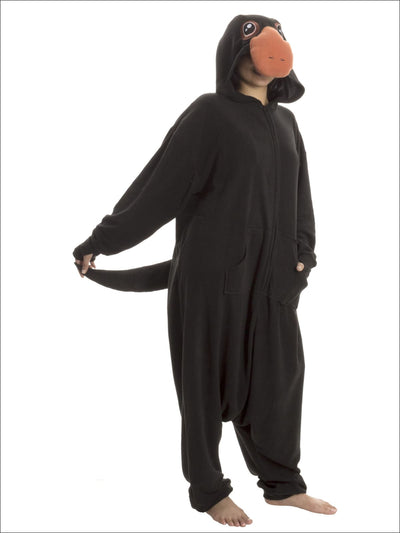 Fantastic Beasts Niffler Adult Unisex One Size Fits Most Onesie Pajama Costume - [empty] / Black