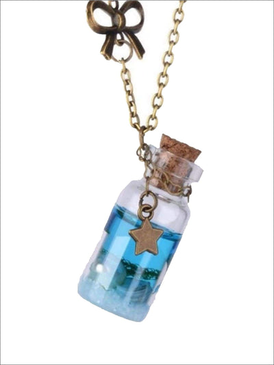 Fashion Mermaid Necklace Bottle Glass Pendant - One Size - Girls Halloween Costume