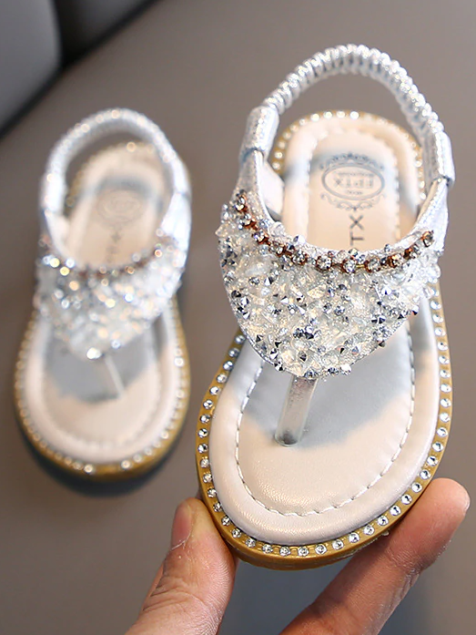 Girls Glittery Glitter Sandals By Liv and Mia