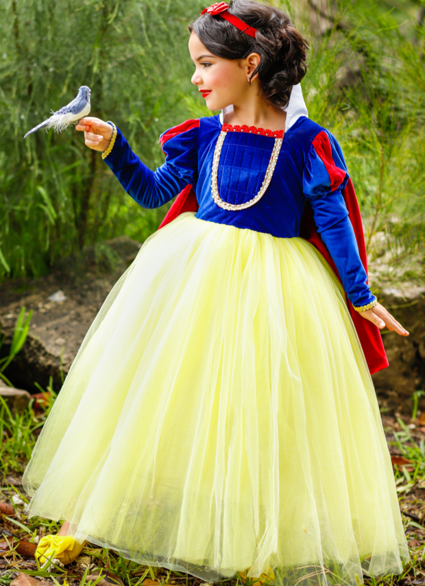 Girls Snow White Inspired Velvet Deluxe Costume