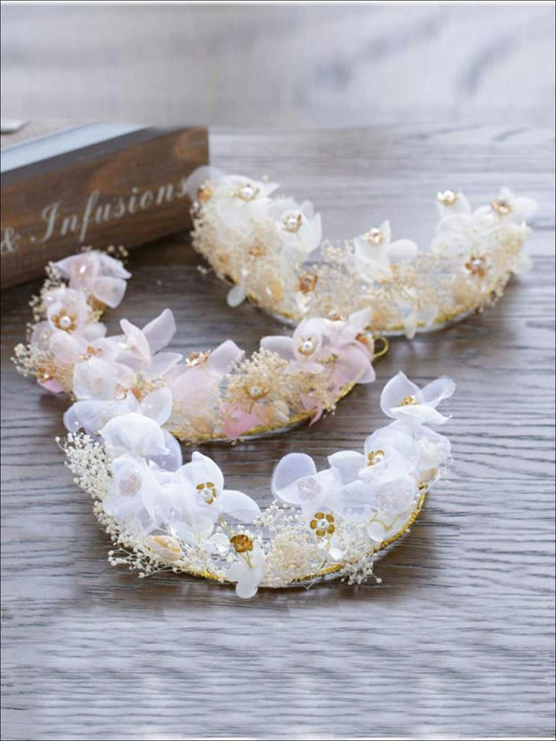 Flower & Seashell Mermaid Inspired Halo Tiara & Earrings Set - Tiara