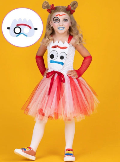 Girls Toy Story 4 Inspired Forky Halloween Costume