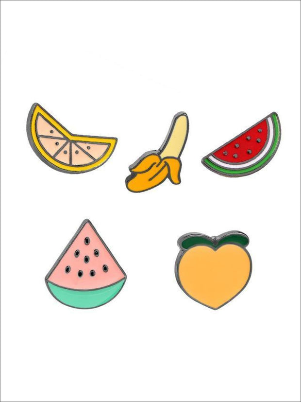Fruit Pins - 5pc set - Pins
