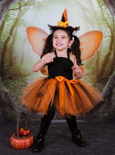 Girl Pumpkin Fairy Tutu Dress Halloween Costume - Girls Halloween Costume