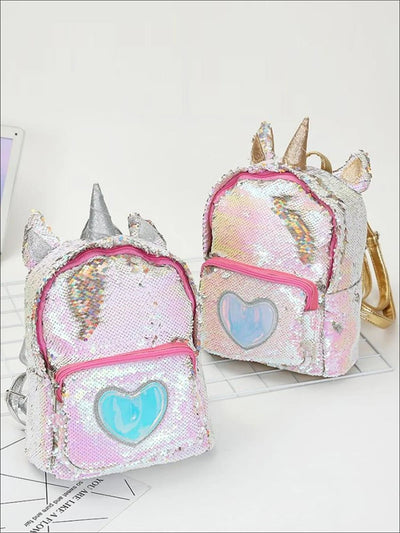 Girls 12 Glitter Unicorn Mini Travel Backpack - Girls Backpack