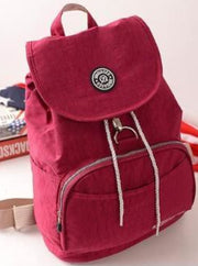 Girls 15 Kipling Inspired Waterproof Backpacks - Red - Girls Backpacks