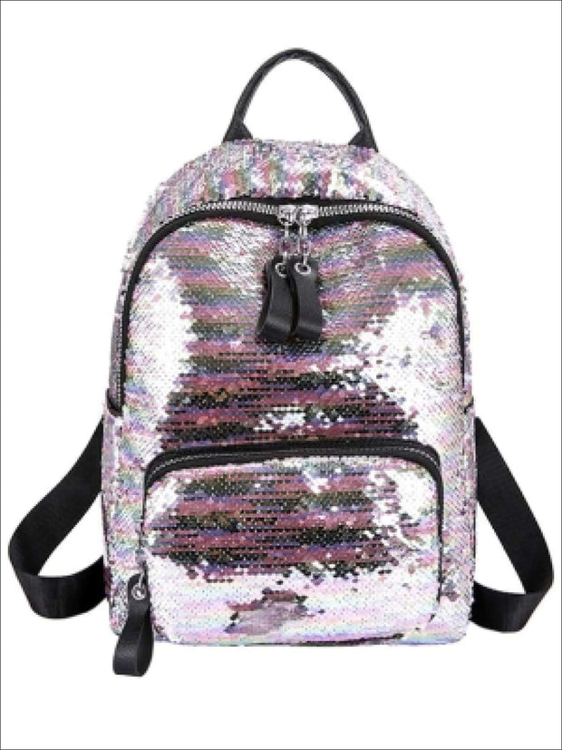 Girls 15 Multi-Color Sparkle Sequin Backpack - Pink - Girls Backpack