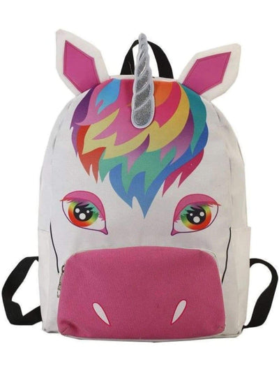 Girls 15 White Rainbow Unicorn Backpack - Girls Backpack