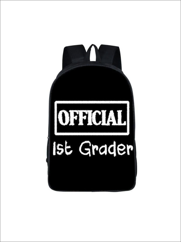 Girls 16.5 Official 1st Grader Backpack ( 5 colors) - Black / 16.5 in - Girls Backpack
