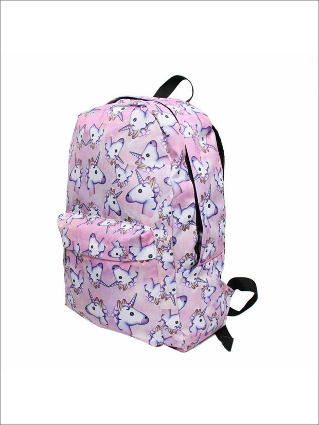 Girls 16.5 Pink Unicorn Backpack + Pencil Case - Unicorn Backpack