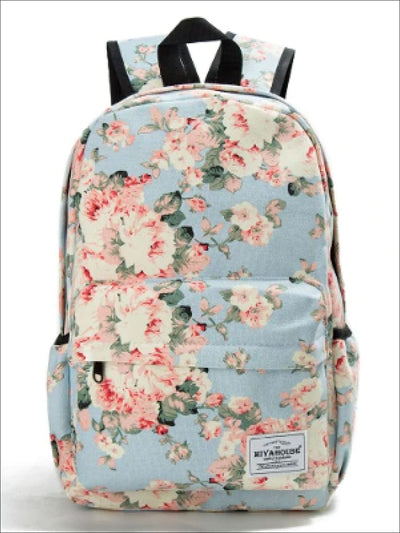 Girls 16 Floral School Backpack - Multicolor / One Size - Girls Backpack