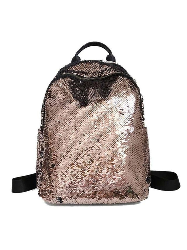 Girls 16 Iridescent Sequined Backpack - Gold - Girls Backpacks