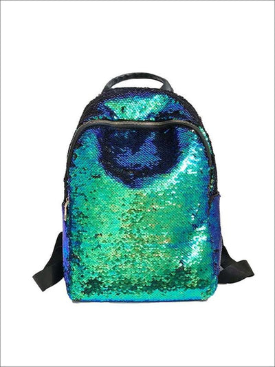 Girls 16 Iridescent Sequined Backpack - Green - Girls Backpacks