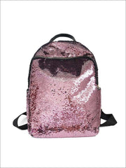 Girls 16 Iridescent Sequined Backpack - Pink - Girls Backpacks