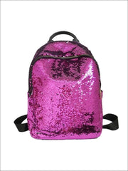 Girls 16 Iridescent Sequined Backpack - Purple - Girls Backpacks