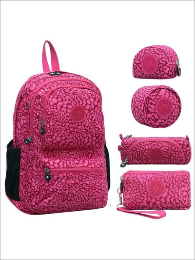 Girls 16 Kipling Inspired Waterproof School Backpack Set (5 Colors) - Pink - Girls Backpacks