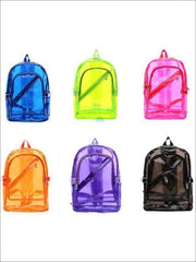 Girls 16 Transparent Waterproof Backpack - Girls Backpacks