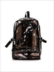 Girls 16 Transparent Waterproof Backpack - Black - Girls Backpacks