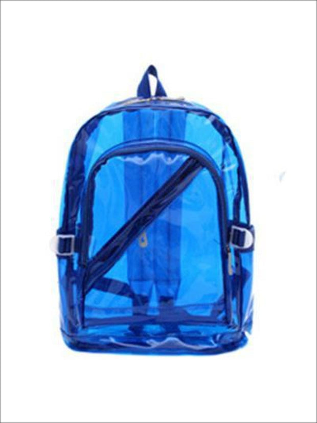 Girls 16 Transparent Waterproof Backpack - Blue - Girls Backpacks