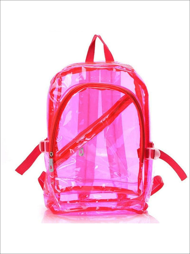 Girls 16 Transparent Waterproof Backpack - Pink - Girls Backpacks
