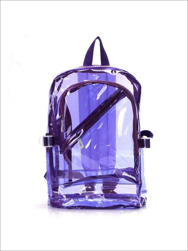 Girls 16 Transparent Waterproof Backpack - Purple - Girls Backpacks