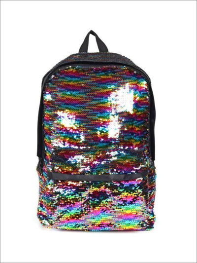Girls 17.5 Glitter Flip Sequins Magic Backpack - Black - Girls Backpacks