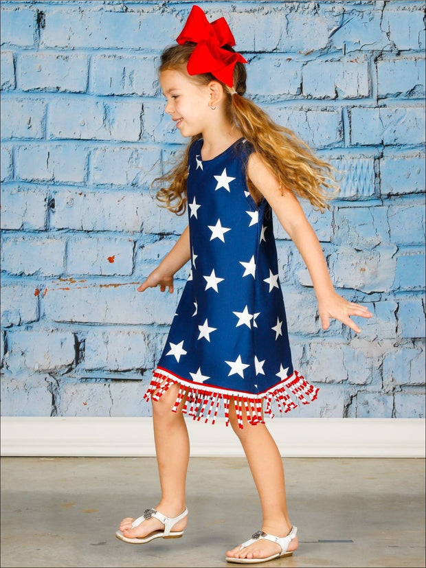 Girls 4th of July Themed Fringe Dress - Girls 4th of July Dress
