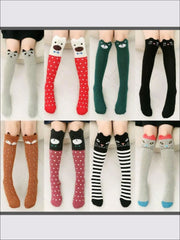 Girls Animal Knee Socks - Girls Accessories