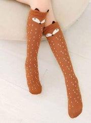 Girls Animal Knee Socks - Brown / 3-7 Years - Girls Accessories