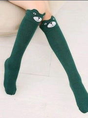 Girls Animal Knee Socks - Green / 3-7 Years - Girls Accessories