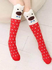 Girls Animal Knee Socks - Orange / 3-7 Years - Girls Accessories