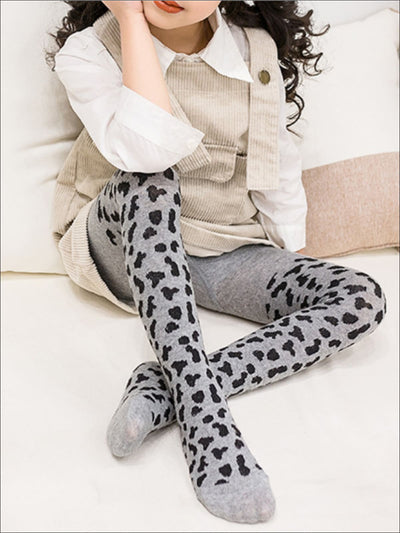 Girls Animal Print Tights - Girls Tights