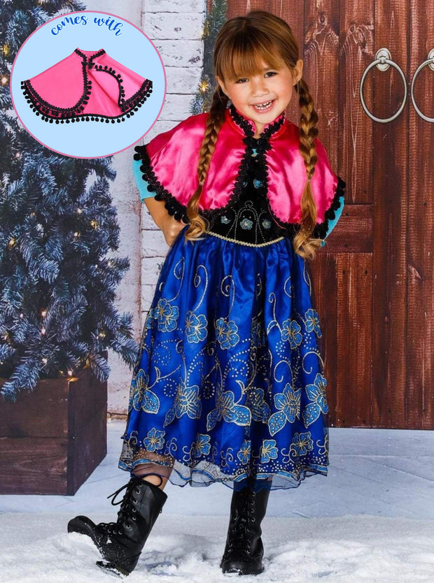 Girls Anna from Frozen Inspired Costume Dress
