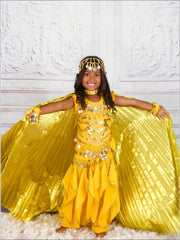Girls Arabian Princess Genie Halloween Costume - Girls Halloween Costume