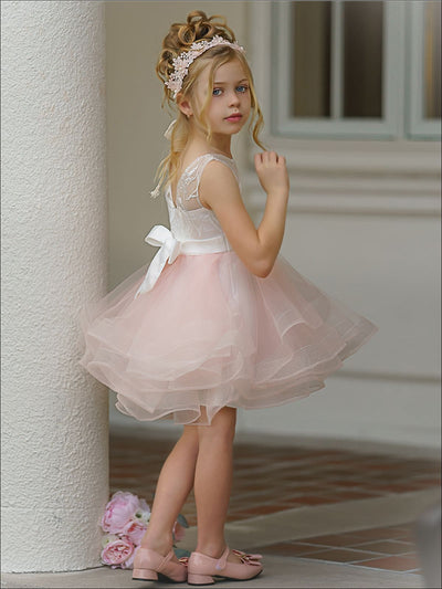 Girls Ball Gown Style Puffy Tutu Dress - Girls Spring Dressy Dress
