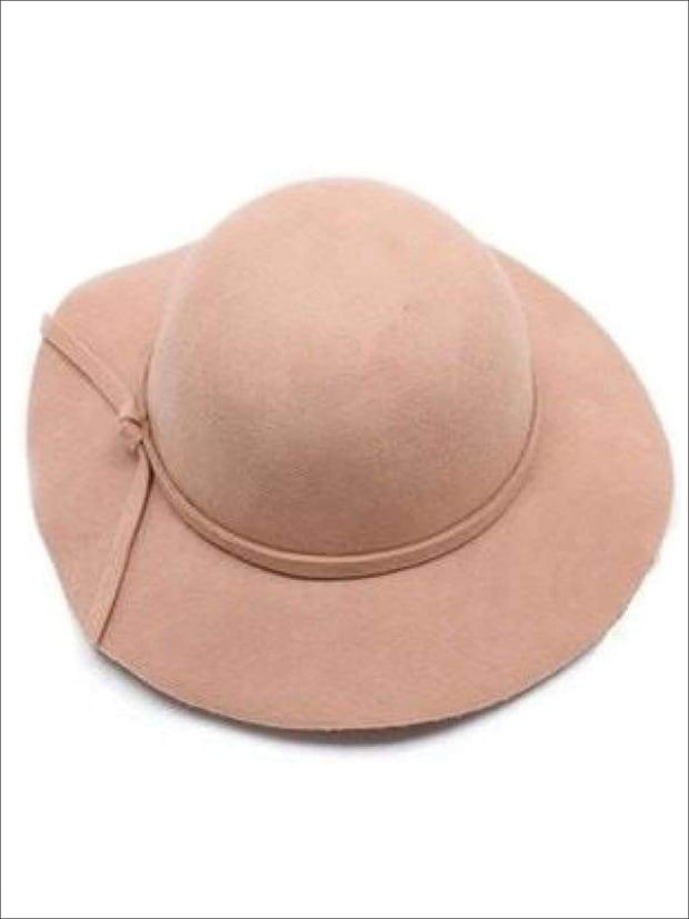 Girls Beige Floppy Hat - Beige / Small - Girls Hat