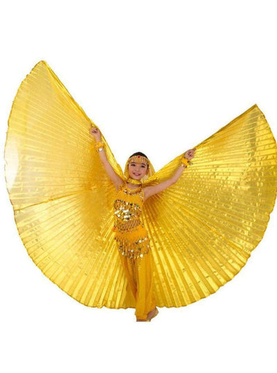 Girls Belly Dance Wings/Cape (7 color options) - Girls Halloween Costume