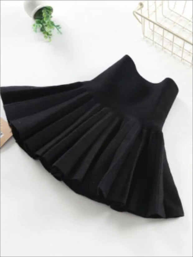 Girls Black Pleated Skirt - Girls Skirt