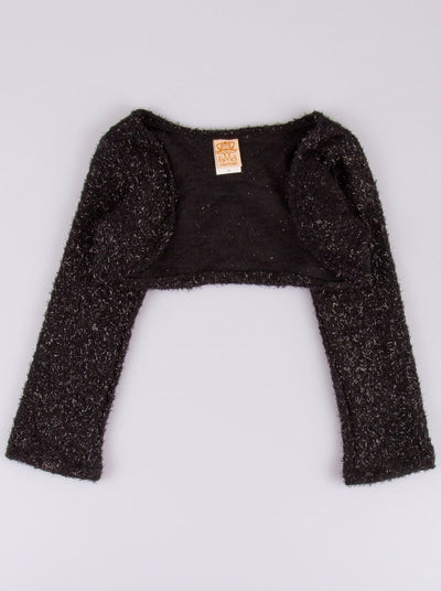 Girls Black Sweater Shrug - Girls Shrug