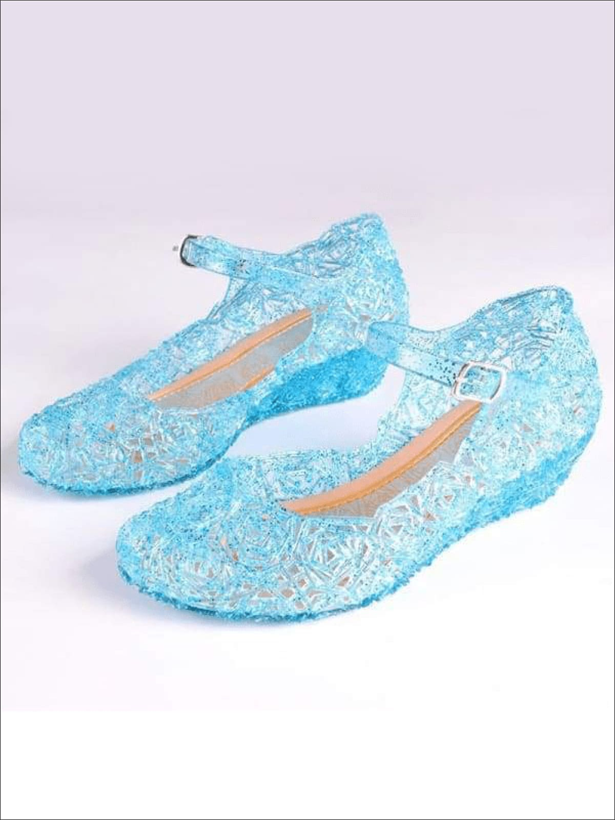 Mia Belle Girls Blue Jelly Flats Shoes
