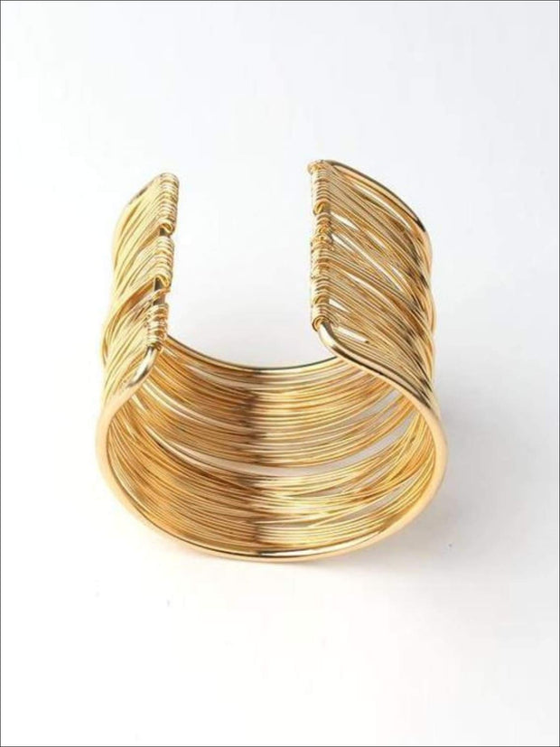 Girls Bohemian Gold Cuff Bracelet - Accessories