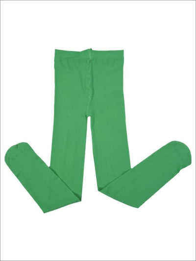 Girls Bright Green Tights - Green / 4T-12Y - Girls Tights