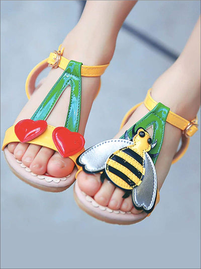 Girls Bumble Bee and Heart Cherry Sandals - Girls Sandals