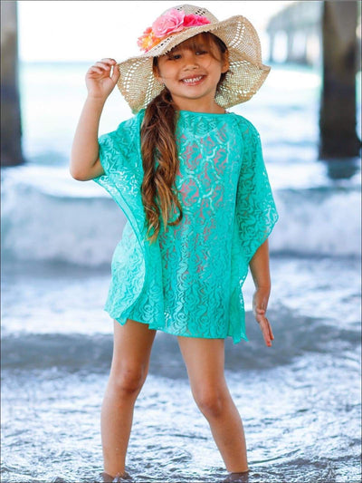Girls Kaftan Swimsuit Cover Up - Girls Swimsuit Cover Up